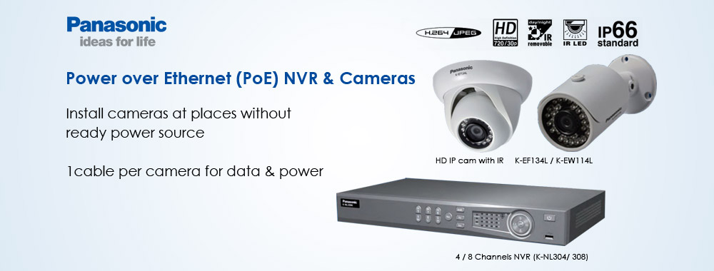 Panasonic PoE NVRs and IP cameras. Available at Jia Ying Trading (Singapore).