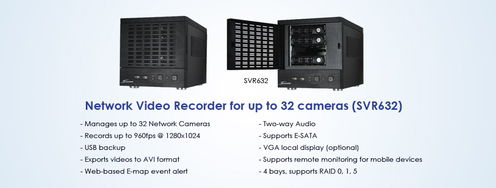 32-channel Network video recorder for surveillance (SVR632)
